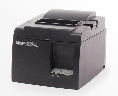 Refurbished TSP100 Ethernet Printer, side angle