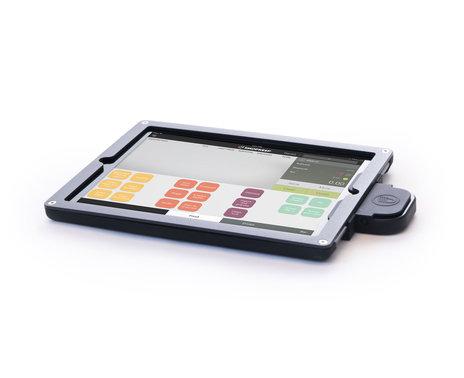 ShopKeep's Heckler Design WindFall iPad Air Frame, black, with iDynamo