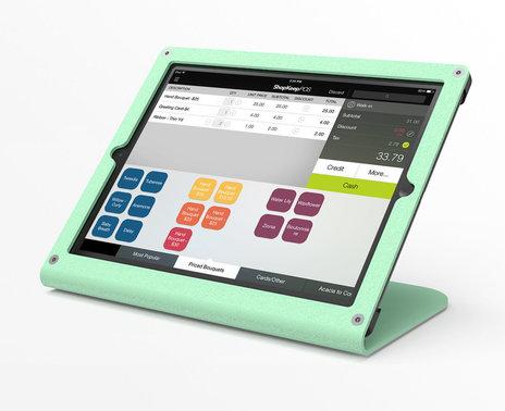 Refurbished WindFall iPad Air POS Stand, seafoam
