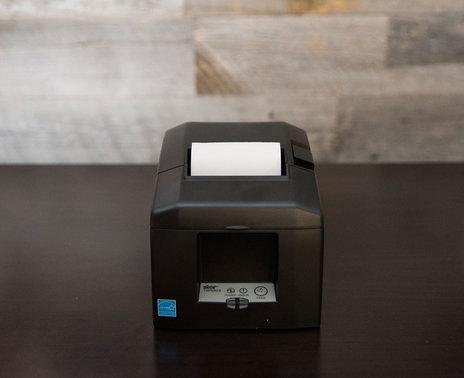 Grey Star Micronics 650II Bluetooth Printer, front view