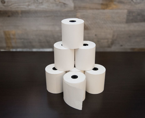 Thermamark 1-Ply Bond Paper, 20 rolls, stacked
