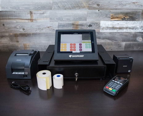 """Complete Restaurant and Bar Hardware Kit for iPad Air Black and Epson 2"""" Printer"""