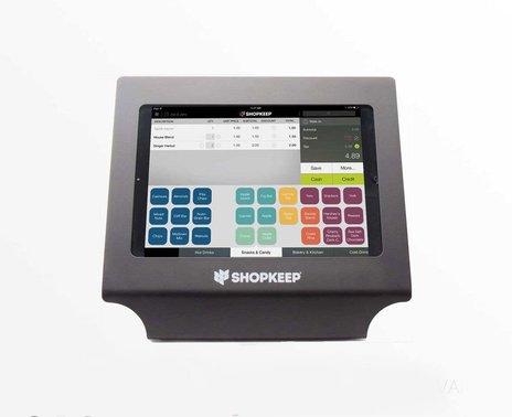 Black Vault Simplicity iPad Air Enclosure with ShopKeep transaction screen