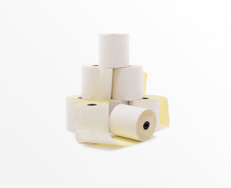 Thermamark 2-Ply Bond Paper, 8 rolls, stacked