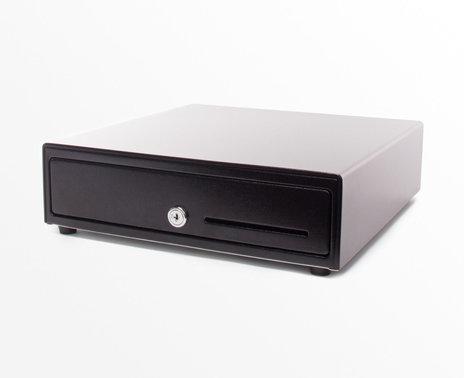 APG 1313 Standard Duty Printer Driven Cash Drawer, side view
